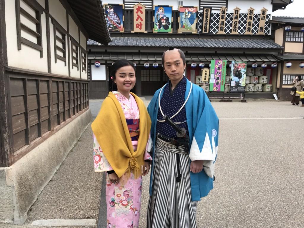 インドネシアから八坂神社や東映太秦映画村へ♪2018年1月13日5