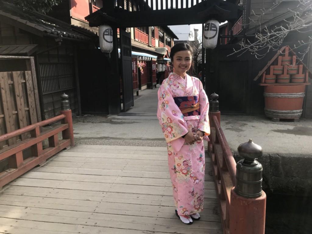 インドネシアから八坂神社や東映太秦映画村へ♪2018年1月13日7