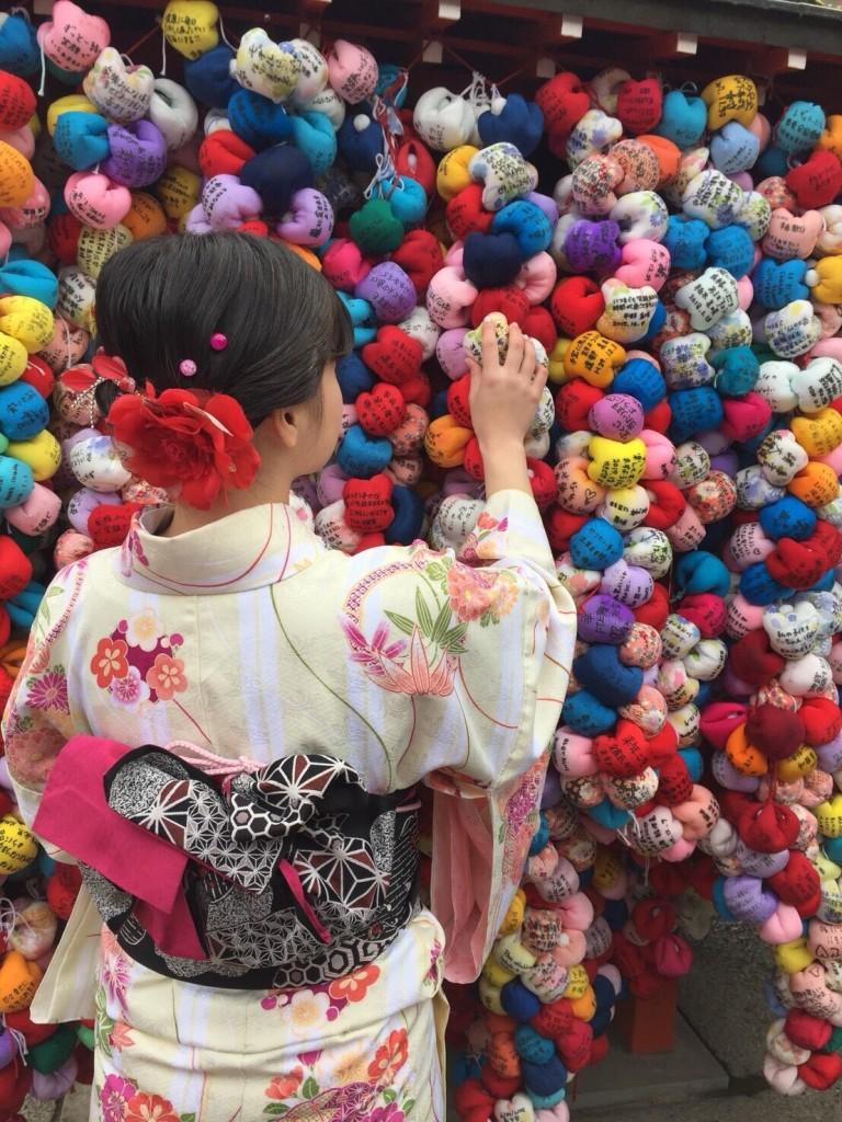 人気の八坂庚申堂と嵐山キモノフォレスト2018年1月14日3