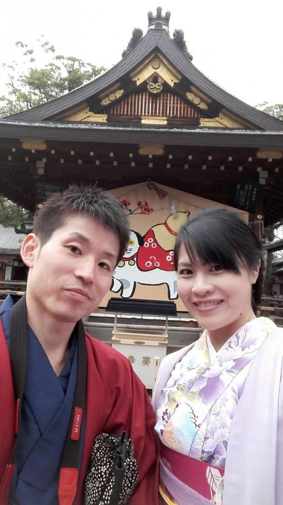 人気の八坂庚申堂と嵐山キモノフォレスト2018年1月14日6