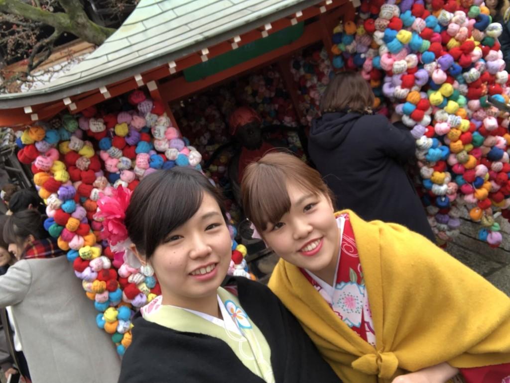 人気の八坂庚申堂と嵐山キモノフォレスト2018年1月14日8