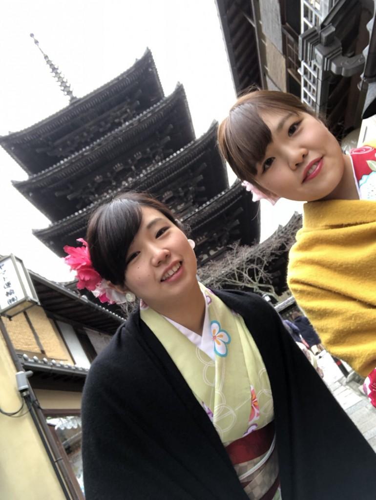 人気の八坂庚申堂と嵐山キモノフォレスト2018年1月14日9