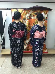 11月27日の着物レンタルのお客様 京都レンタルきもの古都2