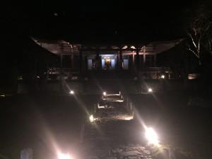 京都 勝林院・宝泉院 秋の夜間特別拝観を着物レンタルで!1