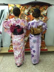 11月29日の着物レンタルのお客様 京都レンタルきもの古都2