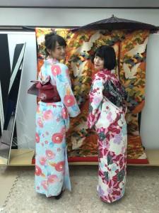 11月29日の着物レンタルのお客様 京都レンタルきもの古都7