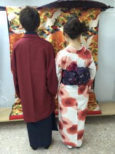 11月30日の着物レンタルのお客様 京都レンタルきもの古都5