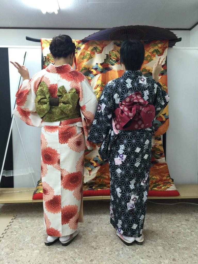 四条烏丸の京都レンタルきもの古都で着物レンタルされたお客様2