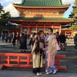 京都四条烏丸の古都で着物レンタル!元旦初詣のお客様10