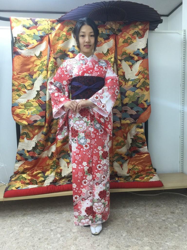 京都レンタルきもの古都の着物レンタルされたお客様1月27日1