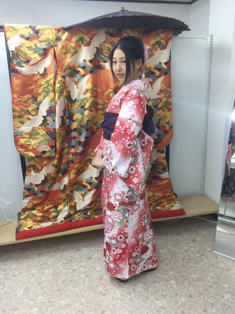 京都レンタルきもの古都の着物レンタルされたお客様1月27日4