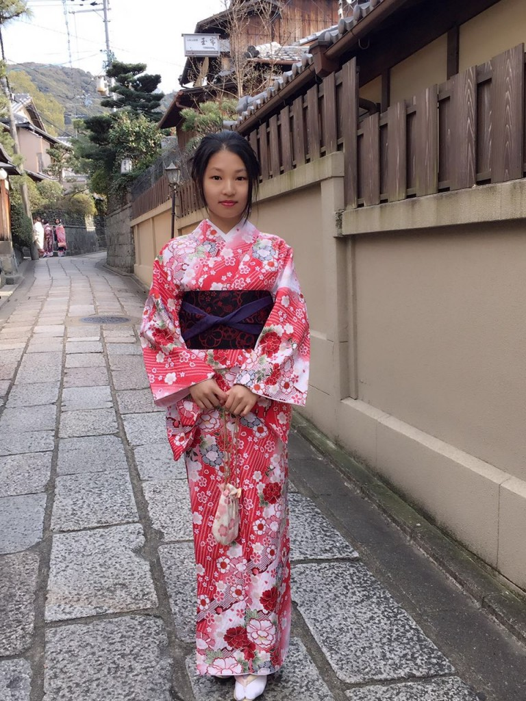 京都レンタルきもの古都の着物レンタルされたお客様1月27日7