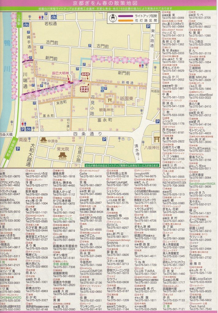 京都祇園白川宵桜ライトアップ2016 2