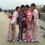 各地で桜の開花宣言!京都レンタルきもの古都2016年3月31日1