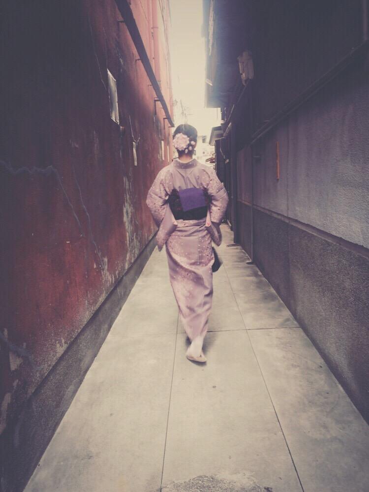 着物レンタルで桜もう少しで満開の京都を散策♪2