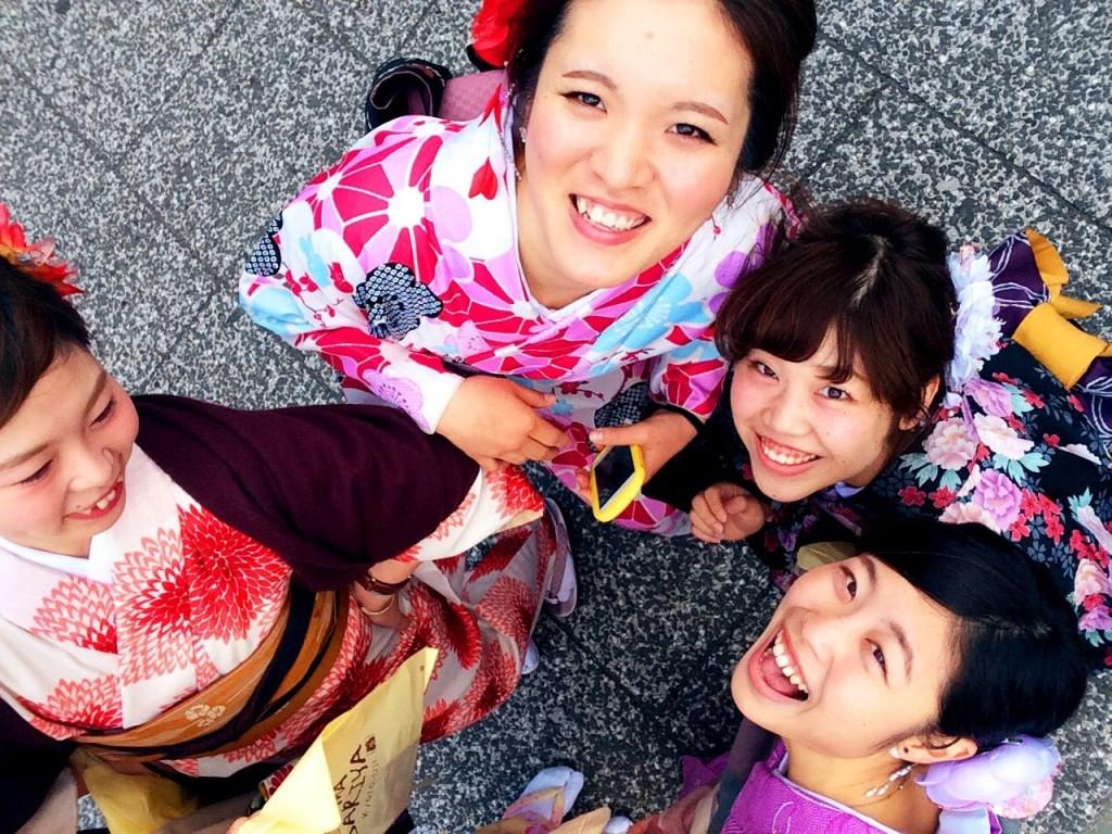 春の京都!みんなで着物レンタル!2016年3月24日17