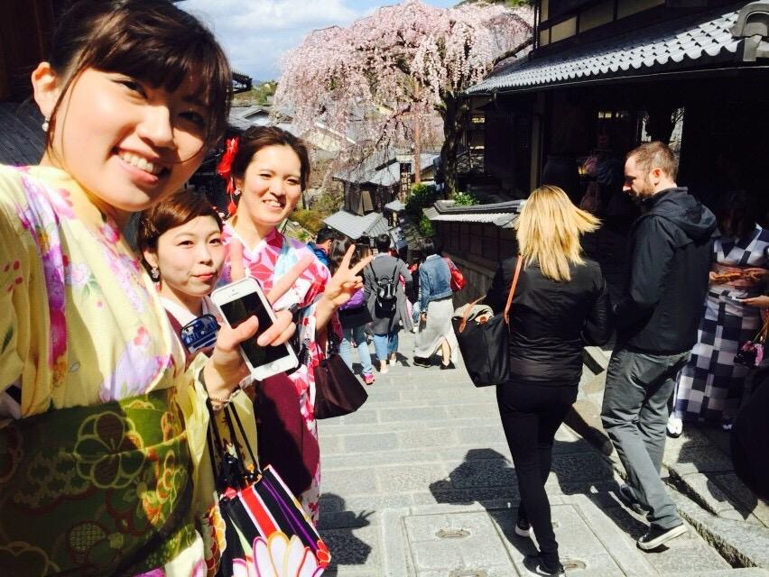 春の京都!みんなで着物レンタル!2016年3月24日21
