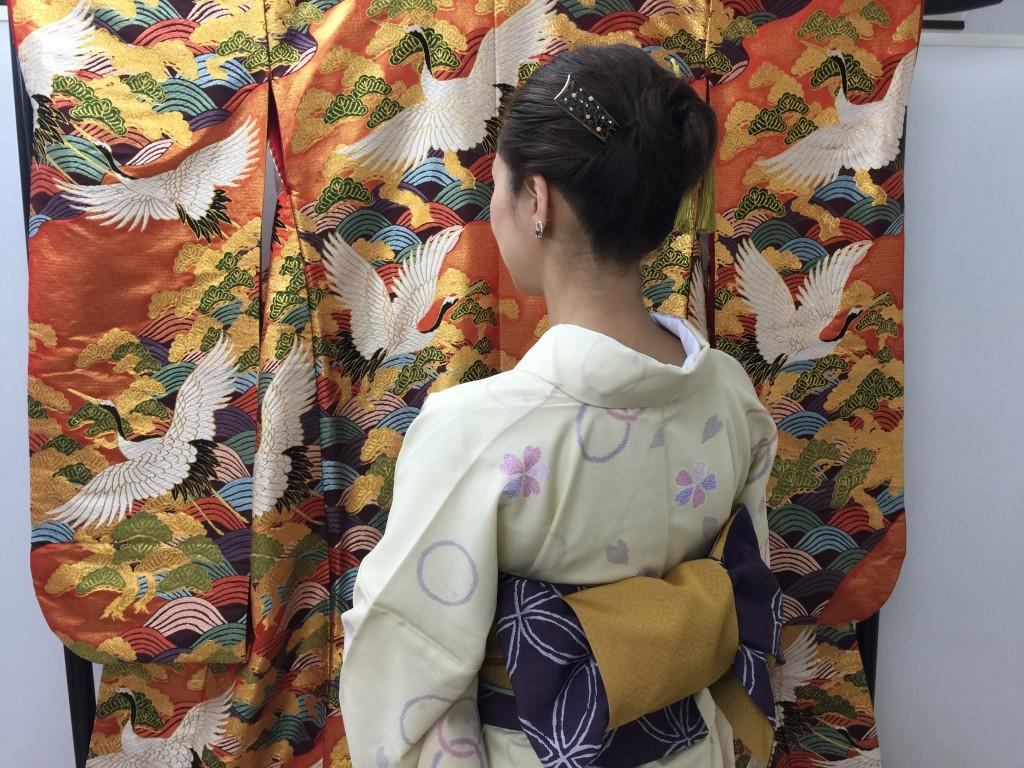 各地で桜の開花宣言!京都レンタルきもの古都2016年3月31日20