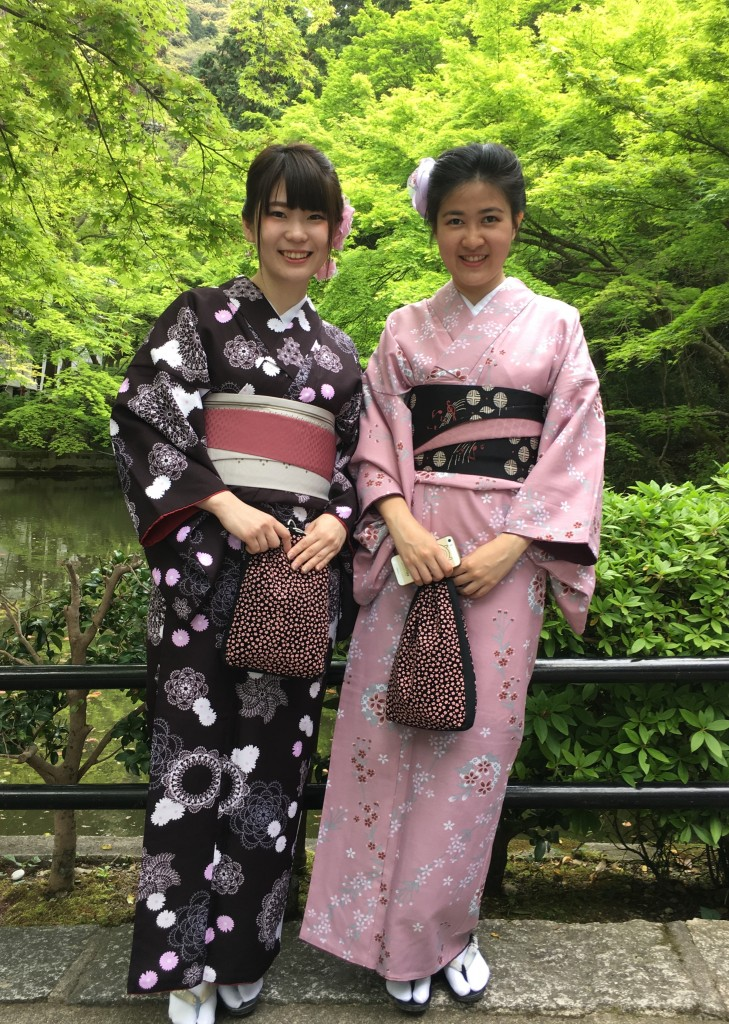 京都の着物レンタルで週末の団体女子旅行♪2016年4月23日25