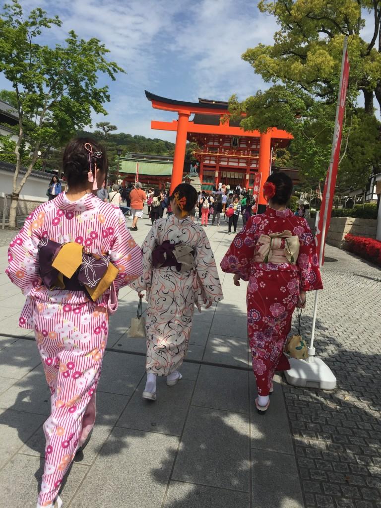 京都の着物レンタルで週末の団体女子旅行♪2016年4月23日22
