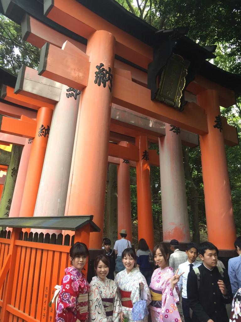 京都の着物レンタルで週末の団体女子旅行♪2016年4月23日21