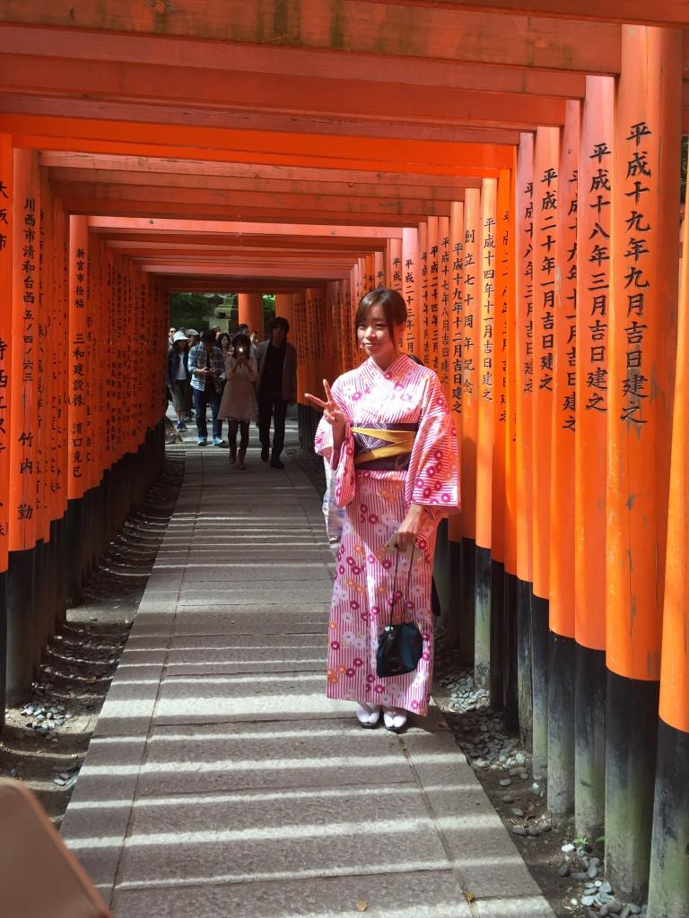 京都の着物レンタルで週末の団体女子旅行♪2016年4月23日20