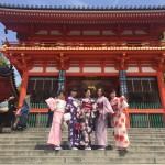 京都の着物レンタルで週末の団体女子旅行♪2016年4月23日14