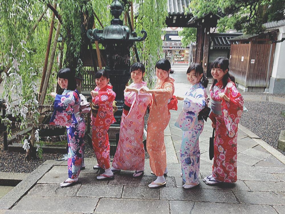 大阪からの高校生1クラス全員で着物レンタル♪2016年4月28日17