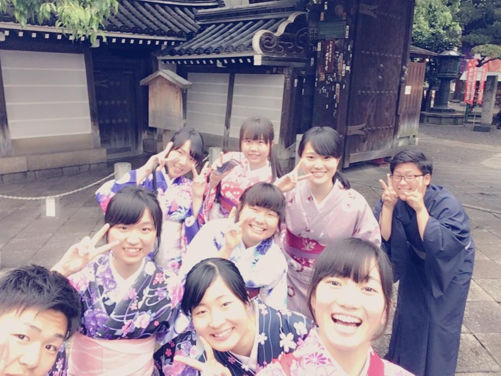 大阪からの高校生1クラス全員で着物レンタル♪2016年4月28日20