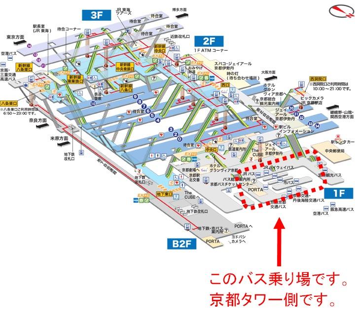 京都駅からバスでのアクセス2
