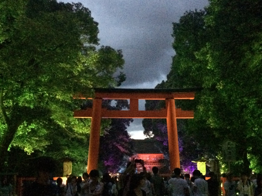 やはり今日も浴衣レンタルで「下鴨神社 糺ノ森の光の祭」2016年8月25日16