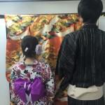 浴衣で「京都 食とアートのマーケット in 東本願寺」2016年8月20日11
