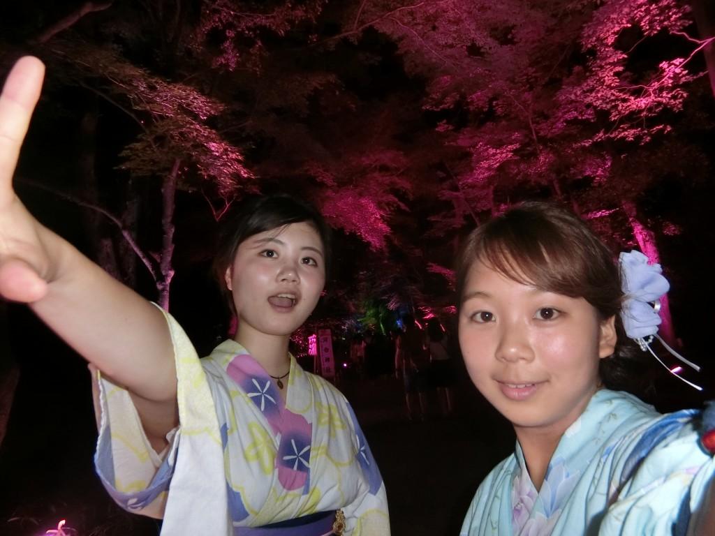 やはり今日も浴衣レンタルで「下鴨神社 糺ノ森の光の祭」2016年8月25日21