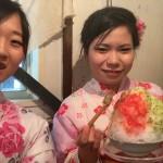 智積院と宇治抹茶氷エスプーマ仕立て2016年9月9日13