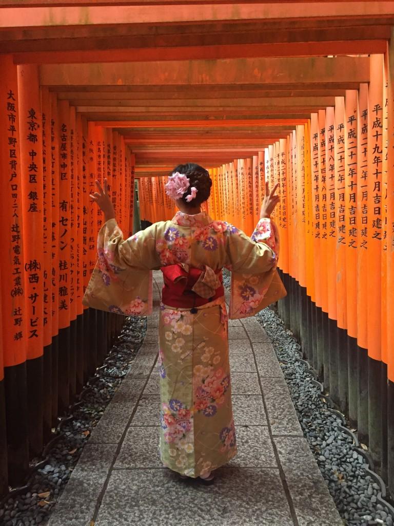 台湾から親子で伏見稲荷大社・清水寺へ!2016年10月17日6