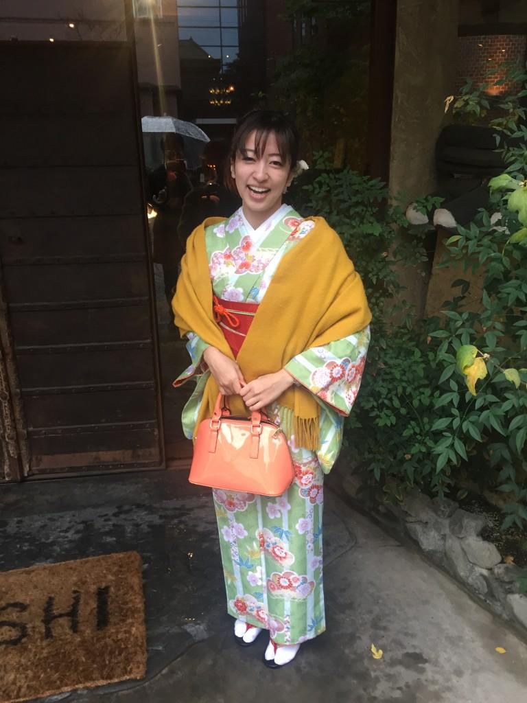 雨の京都を着物でお出掛け♪2016年11月27日6