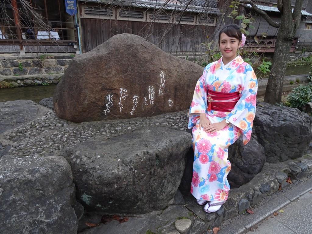 羽織いらずの良いお天気!東山を人力車で♪2016年11月30日19