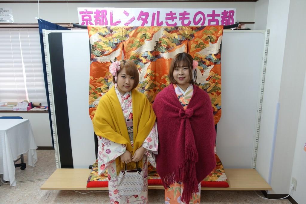韓国から着物レンタル!京都で舞妓さんと❣2016年12月25日6