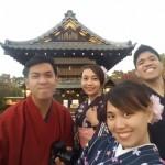 フィリピンから着物レンタルで神泉苑へ❣2016年12月7日7