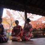 九州から着物レンタル❣日中は祇園❣夜は嵐山花灯路❣2016年12月9日6