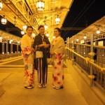 九州から着物レンタル❣日中は祇園❣夜は嵐山花灯路❣2016年12月9日8