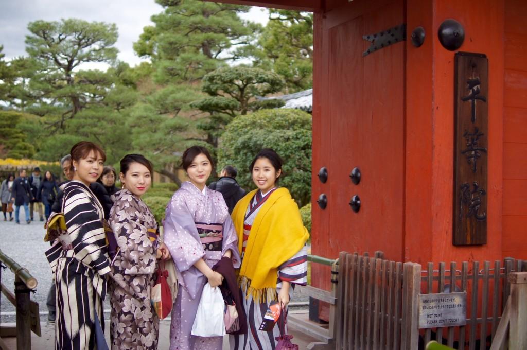 みんなで京都宇治 平等院鳳凰堂へ2016年12月24日12