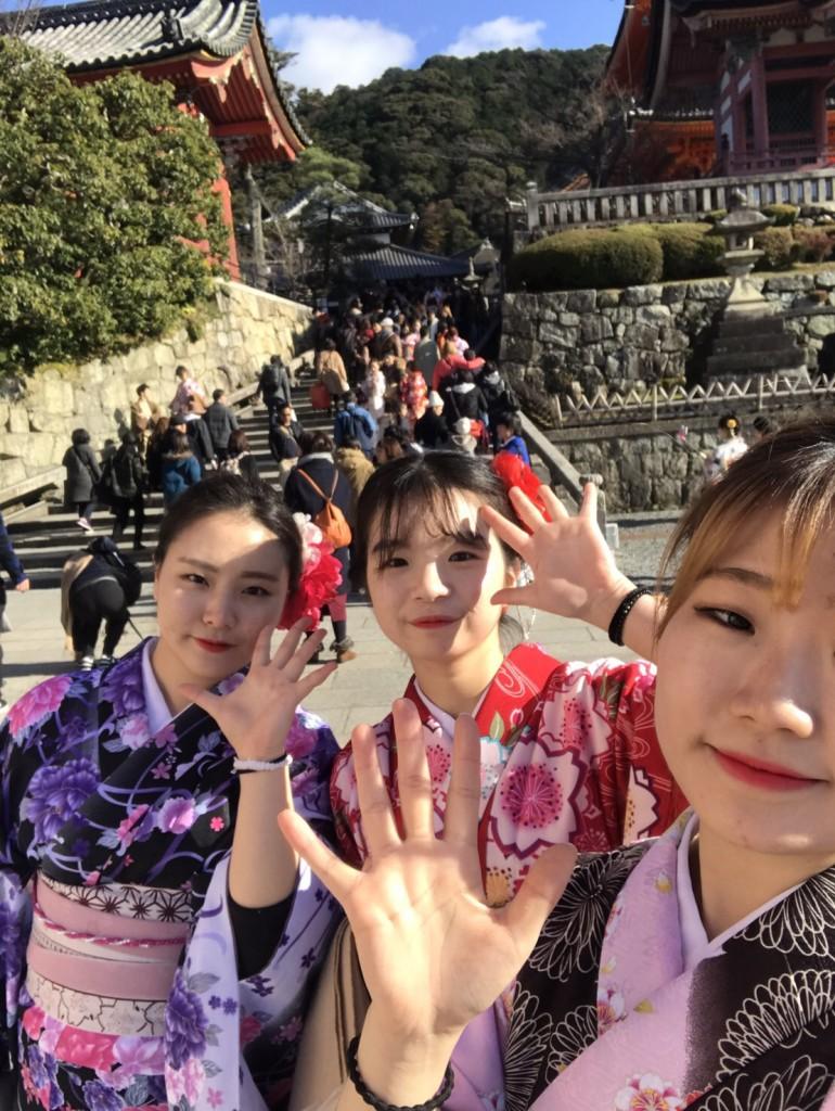 韓国から着物レンタル!京都で舞妓さんと❣2016年12月25日22