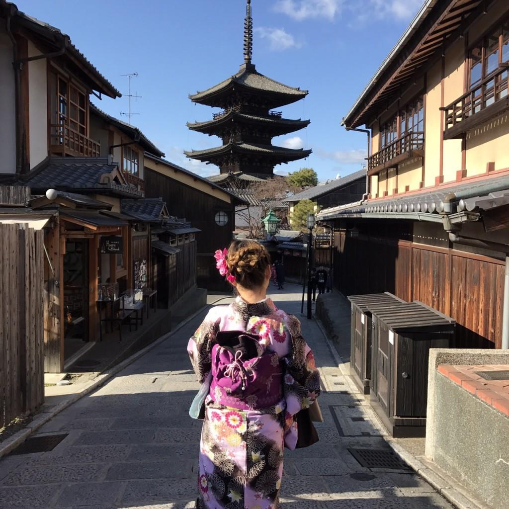 韓国から着物レンタル!京都で舞妓さんと❣2016年12月25日26