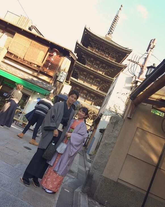 韓国から着物レンタル!京都で舞妓さんと❣2016年12月25日28