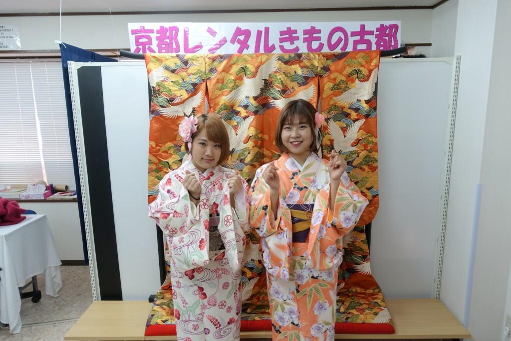 韓国から着物レンタル!京都で舞妓さんと❣2016年12月25日4