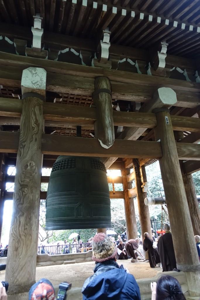NHKゆく年くる年おなじみ京都 知恩院の除夜の鐘!試し撞き2016年12月27日2