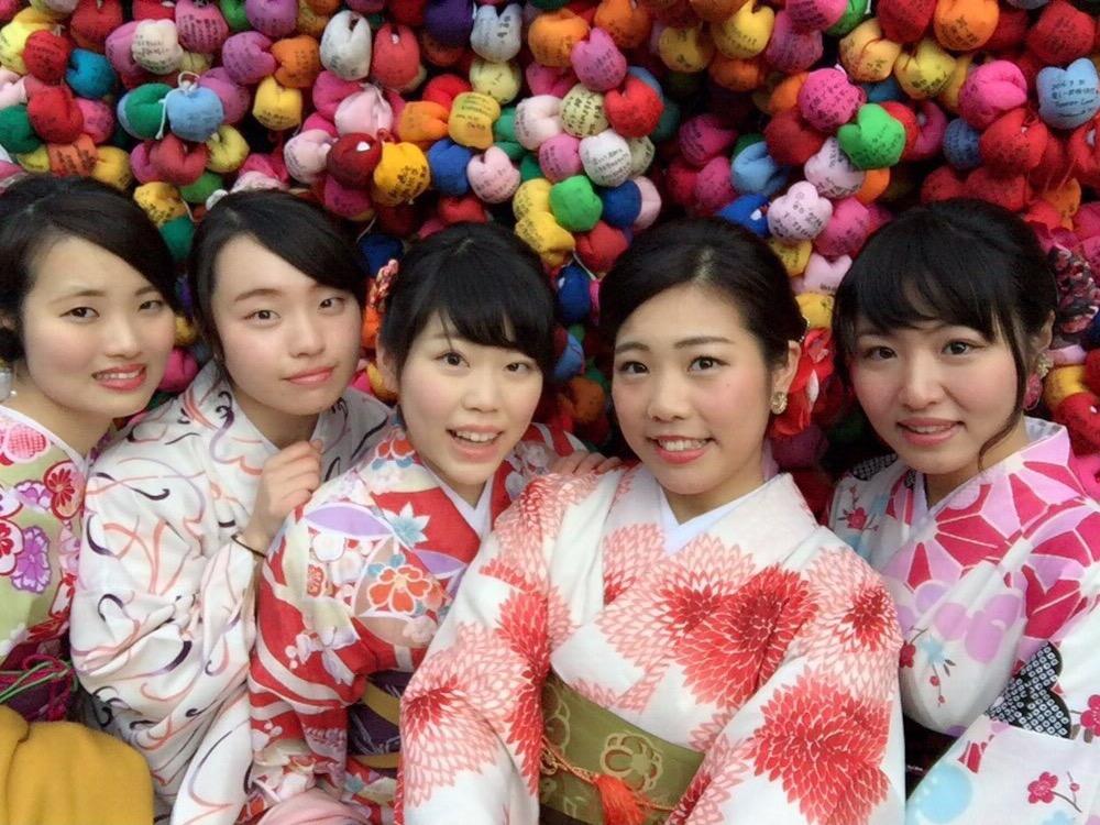 高校の時の同級生同士で八坂庚申堂へ❣2017年1月23日6