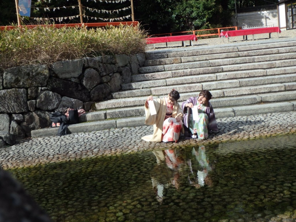 着物レンタルで冬の下鴨神社へ❢2017年1月31日14
