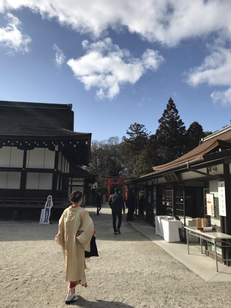 着物レンタルで冬の下鴨神社へ❢2017年1月31日15